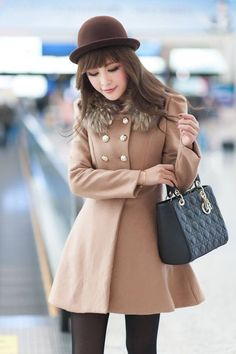 Stylish Double Breasted Overcoat