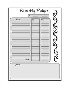 Blank Bi Weekly Budget Template , 9 Bi Weekly Budget Template , What Makes Bi Weekly Budget Template Beneficial for Us in Our Life Have you been having trouble about managing budget yourself? Home Budget Template, Budget Spreadsheet Template, Budget Templates, Weekly Budget Printable, Weekly Budget Planner, Budgeting Worksheets, Printable Worksheets, Free Printables, Budget Sheets