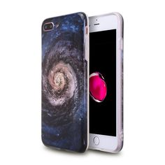 Lightning Power – iPhone 8 Plus IPhone 7 plus Glossy PU case, Soft Slim Fit Flexible TPU Case for Apple iPhone 7 Plus (17 Galaxy)