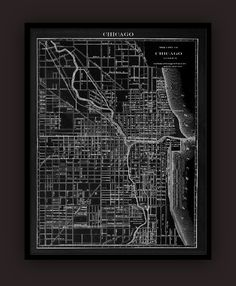 Chicago Lithograph Map