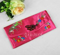 HAND EMBROIDERED SILK CLUTCH MULTI COLOR   chinese embroidery tutorial