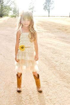 sunflower flower girl dress by country couture co