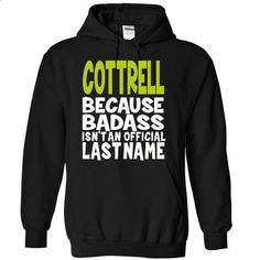 (BadAss) COTTRELL - #hoodie creepypasta #sweater design. SIMILAR ITEMS => https://www.sunfrog.com/Names/BadAss-COTTRELL-asrjrtapyu-Black-42561023-Hoodie.html?68278