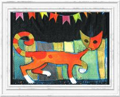 TWO Paper Napkins for Decoupage CAT WALK 33cm by LanternsByTamara