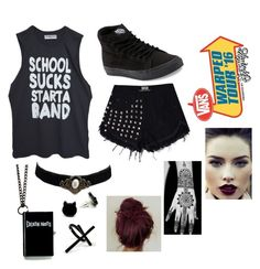 """Warped Tour '16"" by juju-mari-pie ❤ liked on Polyvore featuring Vans and Emi Jewellery"