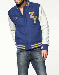 college jacket. Temporada 2012 Zara