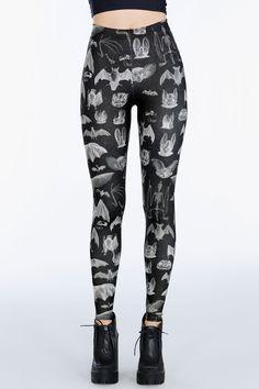 Gone Batty HWMF Leggings ($75AUD) by BlackMilk Clothing