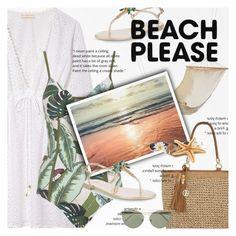 """Beach Please: Vacay Outfit"" by adirakpaula ❤ liked on Polyvore featuring Tory Burch, Seafolly, Giuseppe Zanotti, Giani Bernini, RetroSuperFuture, BeachPlease and vacayoutfit"
