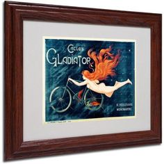 Trademark Fine Art 'Cycles Gladiator' Framed Matted Art by Georges Massias, Size: 11 x 14, Multicolor
