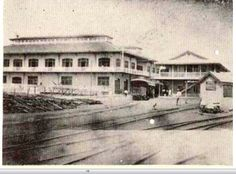 Port Limon custom & railway terminal, photo taken around 1930-1940.
