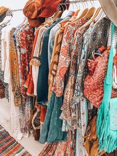Boho closet inspiration - Love all those colors! Bohemian style closet inspiration by Ibizabohogirl - Hippie Style, Bohemian Style Clothing, Girl Style, Hippie Clothing, Gypsy Style, Boho Style, Bohemian Lifestyle, Bohemian Mode, Bohemian Gypsy