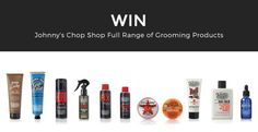 Win Johnny's Chop Shop Full Range of Grooming Products Competition Giveaway, Giveaways, Manual, Range, Exercise, Board, Health, Projects, Shopping