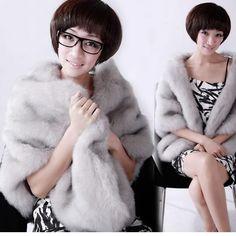 2016 New Retail Warm Faux Fur Ivory Bolero Hochzeit Wrap Schal Braut Jacke Mantel Zubehör Grau Schwarz Kostenloser Versand