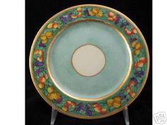 "Royal Bavarian ""Cornucopia"" Decorated Plate"