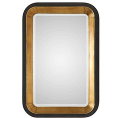The rich black and gold tones of the Uttermost Niva Wall Mirror add dramatic flair to any room's decor. Beautifully crafted of forged iron with tapered sides and antiqued finishes on the inside and outside create a unique and elegant look. Floor Mirror, Wall Mirror, Home Decor Mirrors, Home Fireplace, Beautiful Mirrors, Mirrors Online, Decoration, Cleaning Wipes, Dekoration
