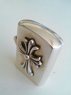 2f85d471a0ed VINTAGE 925 STERLING SILVER CONCHO STUD CHROME HEARTS CROSS BIKERS ZIPPO  LIGHTER Chrome Hearts