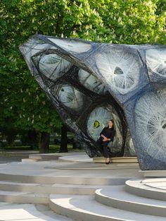 University of Stuttgart realized a carbon-fibre pavilion based on beetle shells