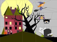 Halloween Art Quilt Sold by Quilt Art Designs