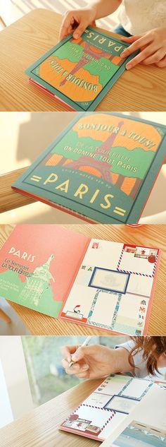 >< Vintage Style Paris Sticky Note!