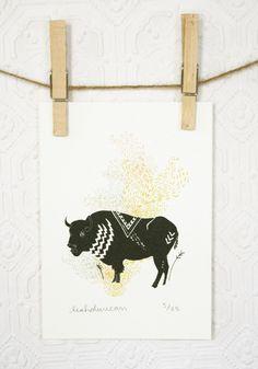 Leah Duncan-Buffalo Print  5 x 7. $16.00, via Etsy.