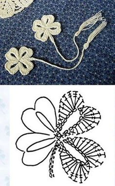 crochet clover leaf diagram