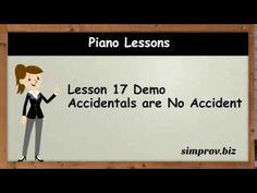 Piano Lesson 17 Demo - Accidentals are no Accident