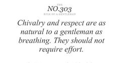 rules of a gentleman | 20 Fabulous Things We Love: The Rules of a Gentleman