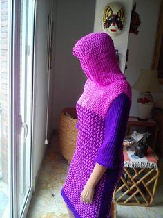 Hooded Dress Loom Knitting