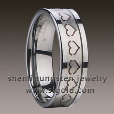 Tungsten Ring  Material: tungsten  Color: polished shiny  Plating: no plating   Size:All sizes including 1/2 sizes  Thickness:2.3~2.5 mm  Width:7mm  Inlay:red carbon filber+Stainless steel  Stone: no stone used  Mini Quantity: 3pcs for one size  Packing: OPP bag