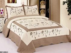 3pcs High Quality Fully Quilted Embroidery Quilts Bedspread Bed Coverlets Cover Set , Queen King (Beige/Taupe) FineHome http://www.amazon.com/dp/B00KY3MZ42/ref=cm_sw_r_pi_dp_Q5q8ub12RJ6AA
