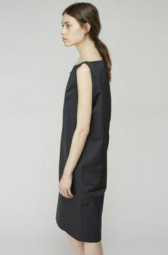 Black sleeveless dress with drop waist - elegant simplicity; minimal fashion // Acne Studios
