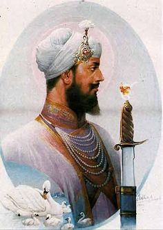 """While the ceremonial rites were being performed by Baba Buddha Ji, Guru HarGobind Ji asked Baba Buddha to adorn him with a sword rather than the Seli of Guru Nanak Dev Ji which had been used previously by the earlier Gurus. Guru HarGobind Ji then put on not one, but two swords; one on his left side and the other on his right. He named one """"Miri,"""" representing Temporal Power, and the other """"Piri,"""" representing Spiritual Power, one to smite the oppressor and the other to protect the innocent."""