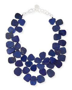 Lapis Cluster Necklace by Nest at Neiman Marcus.