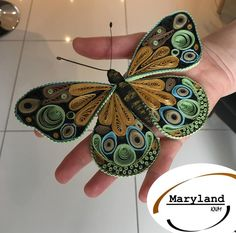 Quilling Butterfly, Arte Quilling, Quilling Work, Paper Quilling Patterns, Quilling Paper Craft, Butterfly Wall Art, Paper Crafts Origami, Quilling Ideas, Quiling Paper Art