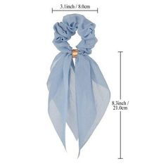 NEW Women Chiffon Bow Ribbon Hair Scarf Elastic Scrunchie Rubber Rope Hair Tie - How To Make Scrunchies 2020 Diy Hair Scrunchies, Diy Hair Bows, Elastic Hair Ties, Ribbon Hair Ties, Tie Bow, Ribbon Bows, Creation Couture, Diy Headband, Hair Accessories For Women