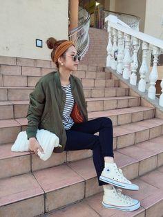 asukaさんの「Ungrid スリーブギャザーMA-1」を使ったコーディネート Japan Fashion, Pop Fashion, Daily Fashion, Winter Fashion, Fashion Outfits, Womens Fashion, Fall Outfits, Boyish Style, Basic Wear