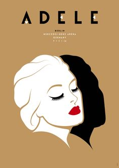 Design studio La Boca created limited edition posters for Adele's European tour. Each night a poster designed for that city and venue was released in an…
