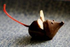 hershey kiss mice treats | Christmas mouse-cherry and hershey kiss | Appetizers, Hors d'oeuvre ...
