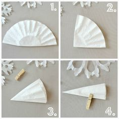 Holiday Snowflakes- photo tutorial- the kids and I love crafting these! So easy and can be made by all ages with just a bit of paper and scissors.