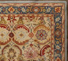 POTTERY BARN Eva Rug. Color Palette Idea. Persian Style ...