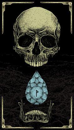 Skull & Diamond / 2013 by Pegaz Design, via Behance