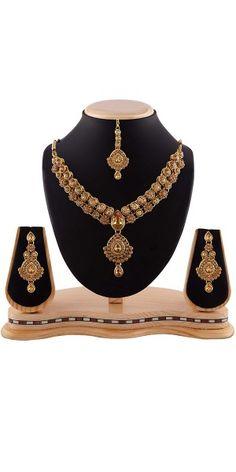 Women's Art Necklaces In Beige & Gold