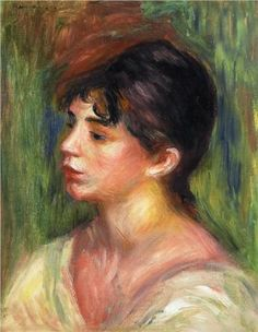 Portrait of a Young Woman - Pierre-Auguste Renoir