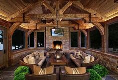 Like the addition of a fireplace to the four season room.