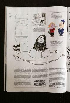 Genio y figura del humor. Landrú. Nota en la revista VIVA (Clarín). Domingo 11 de Mayo de 2014. Página 46. Humor social. Por Horacio del Prado.
