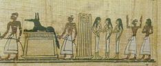 Transport of the grave furniture (Book of the Dead, Turin, Egyptian Museum)