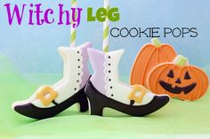 Witchy Leg Cookie Pops   Flickr - Photo Sharing!