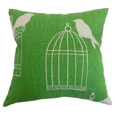 I pinned this Maya Pillow in Green from the Preppy Pops event at Joss and Main!