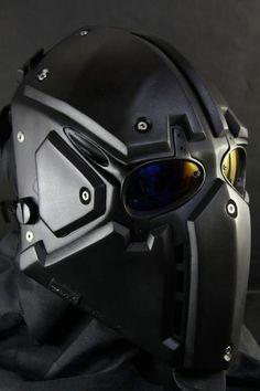 MASK   --- nice ballistic mask.  i'd wear it when I cut my toe nails.