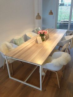 Table large dining table kitchen table wooden table desk writing desk unique rectangular Industrial series Industrial Dining Home Steel Dining Table, Dining Table In Kitchen, Table Desk, Dining Tables, Dining Room, White Dining Table, Narrow Kitchen, Outdoor Dining, Wooden Table Diy